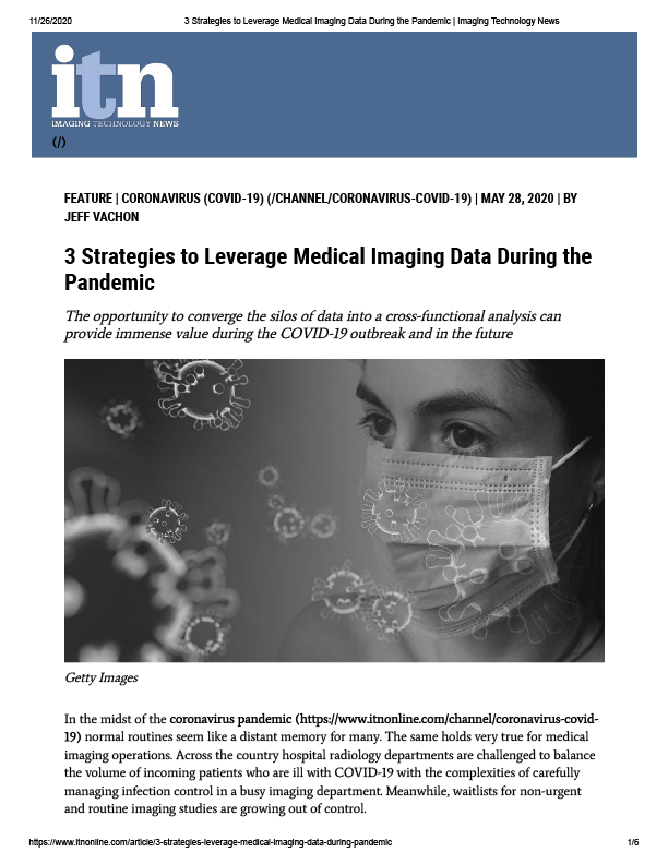 3 Strategies to Leverage Medical Imaging Data During the Pandemic-Imaging Technology News